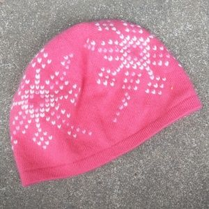 Land's End Ladies Cashmere Pink Skull Cap